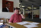 volunteers call Obama-leaning voters to urge them to go to the polls