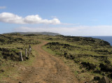 the road on west and south, traversing a volcanic landscape,  is quite rough.....