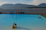 if English Bay seems too cool, there's a swimming pool.....
