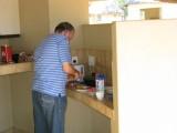Len cooking