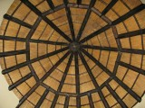 Hut thatch roof from inside