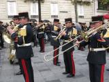 Army Band warming up