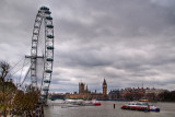 London Eye and Parliament, London