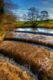Stepped weir, Fiddleford, Dorset