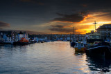 Sunset, Weymouth harbour, Dorset (2029)