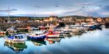 Line of boats, West Bay, Dorset