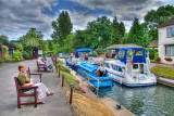 Filling up the lock, Marlow