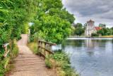 Riverside path and All Saints church, Bisham