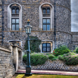 Lamppost and gateway, Windsor Castle