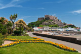 Gardens and castle, Gorey, Jersey