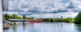Marina and clouds, Bobcaygeon