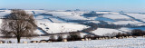 Snowy landscape over Clay Pigeon