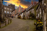 Gold Hill sunset, Shaftesbury (3921)