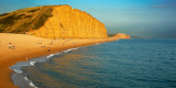 Evening light on East Cliff, West Bay, Dorset