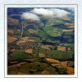 Devon patchwork, shortly after take-off