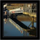 Foot bridge, the marina, Weymouth, Dorset