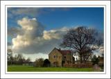 House, tree and cloud, Martock