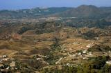 Pockmarked landscape to the south-west of Mijas