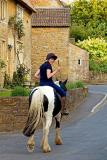 Horse and rider, Stoke-sub-Hamdon, Somerset