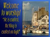 'Welcome' slide from the Weymouth 02 series