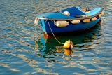 Blue boat, Weymouth harbour