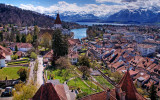 View of Thun from the castle tower