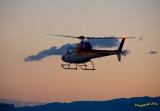 Eurocopter at dusk