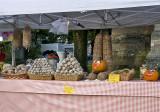 Sausage and pumpkins, Italian church festival