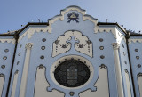Blue Church, detail above door