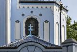 Blue Church, unusual cross