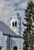 Blue Church, belfry, Zsolnay tile roof