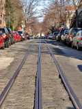 P Street NW, 1890s streetcar tracks