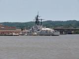 Naval vessel at the Navy Yard