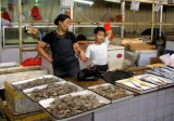 Beijing market - mother & son fishmongers