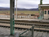 Enroute to Turpan - 2-day/night train leg - desolate station