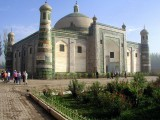 "Kashgar - Apakh Hoja Tomb Mosque, where an emperor & favorite (""fragrant"") concubine are entombed together"