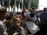 You can also get a shave at the Kashgar Sunday Market