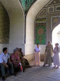 Kokand Palace - group of Uzbek visitors
