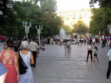 Downtown Baku - pedestrian area with shops & cafes