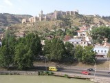 Tbilisi, Georgia - view of Narikala Fortress from Metekhi Church