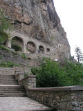 Near Trabzon, Turkey - Sumela Monastery - long stairway up