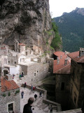 Near Trabzon, Turkey - Sumela Monastery - view of site's perch