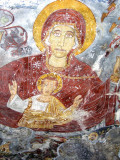 Near Trabzon, Turkey - Sumela Monastery - wall painting detail - interior of ancient church