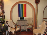 My living room with the flag of Cusco, My first apartment