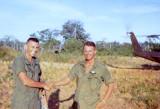 MAJ (P) Louis C. Menetrey, Battalion Commander; and Charles Smith, medic