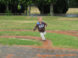 Adam running the maze
