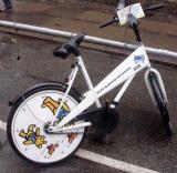 Rental bikes.  Everybody bikes in Copenhagen