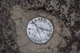 Survey marker at Vernal Falls