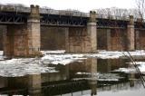 The Dee railway bridge...