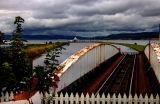 Old swing railway bridge...